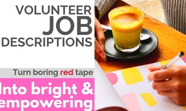 WRITE VOLUNTEER JOB DESCRIPTIONS FOR BETTER MINISTRY RESULTS