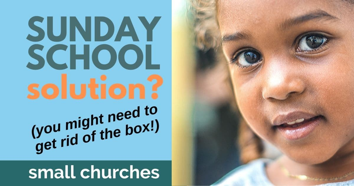 HELP FOR YOUTH & CHILDREN'S SUNDAY SCHOOL IN A SMALL CHURCH